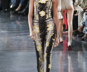 runway, mugler, and joan smalls image