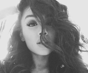 black, white, and ariana image