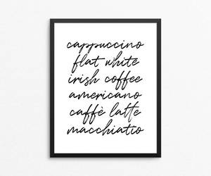 etsy, kitchen, and coffe art image