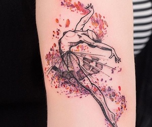 tattoo, dance, and dancer image