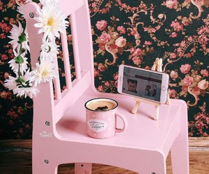 cup, pink, and iphone image