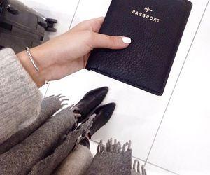 travel, fashion, and passport image