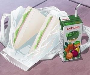 anime, sandwich, and anime food image