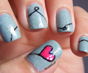 nails, heart, and blue image