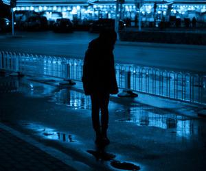 blue, grunge, and night image
