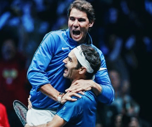 roger, sport, and friendship image