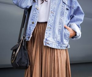 denim jacket, autumn outfits, and fall outfits image