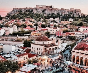 city, travel, and Greece image