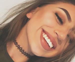 choker, eye makeup, and girl image