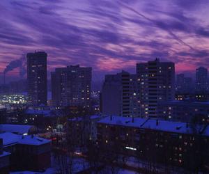 purple, city, and night image