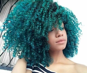 Afro, curly, and colorful image
