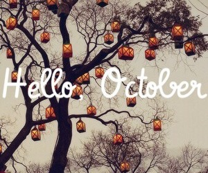 autumn, hello, and october image