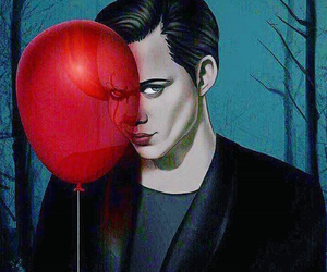 pennywise, it, and art image