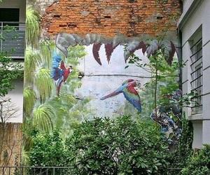 art, garden, and paradise image