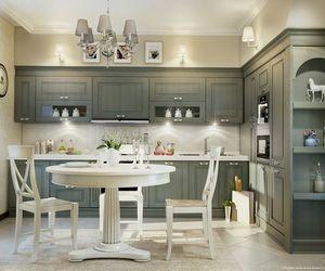 furniture, interior design, and kitchen cabinets image