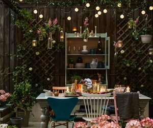 light, flowers, and garden image