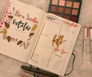 autumn, planner, and planning image