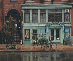 rain, city, and vintage image