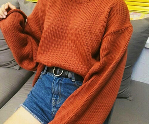 fashion, orange, and style image