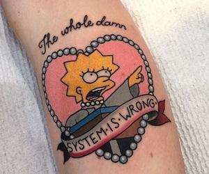 tattoo, lisa simpson, and the simpsons image