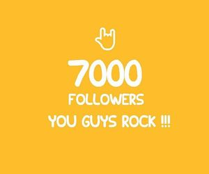 followers, 7k, and thnx image