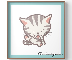 cat, draw, and frame image