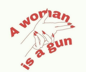 woman, quotes, and gun image