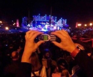 concert, old phone, and picture image
