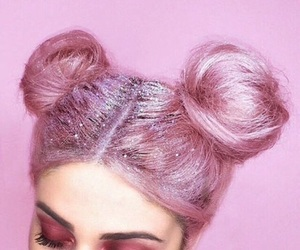 girls, hairstyle, and pink image