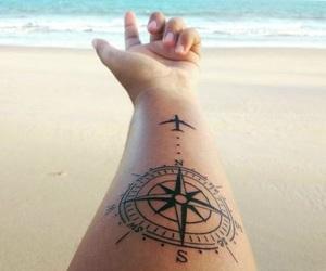 tattoo, travel, and beach image