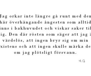 angest, svenska citat, and svenska texter image