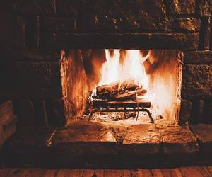 cozy, fireplace, and warm image