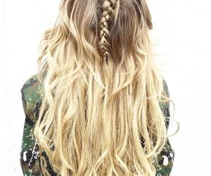 army, blonde, and braid image
