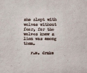 quotes, lion, and wolf image