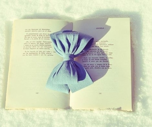 book, bow, and cute image