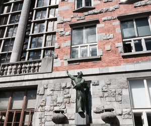 building, slovenia, and statue image