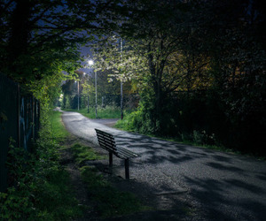 empty, green, and night image