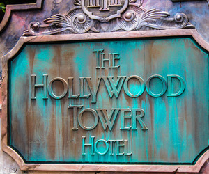 hollywood, hotel, and sign image