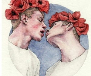 boy, Fleurs, and flowers image