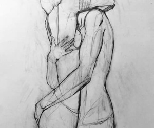 arms, art, and couple image