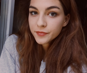 brunette, eyes, and fall image