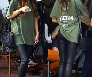 casual, green shirt, and leather pants image