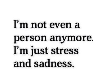 sadness, stress, and quotes image