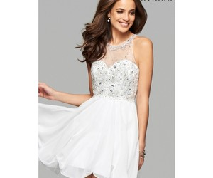 chiffon, Prom, and sleeveless image