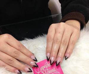 nails, stilleto nails, and almond nails image