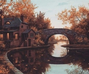 autumn, cool, and lake image