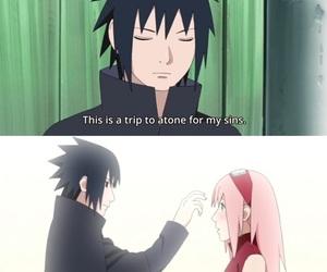 sakura, sakura and sasuke, and sasuke image