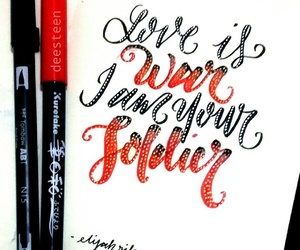 calligraphy, lettering, and elijah image