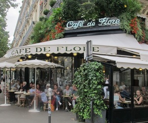 cafe, paris, and wine image