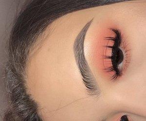 makeup, eyelashes, and eyebrows image